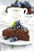 Chocolate Almond Cake With Blueberry
