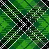 Textured irish tartan plaid. Seamless vector pattern