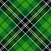 stock photo of irish  - Textured irish tartan plaid - JPG