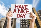 Have a Nice Day card with urban background
