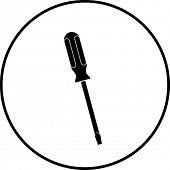 flat head screwdriver symbol