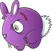 Vampire Bunny Rabbit Vector Illustration Art