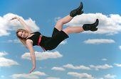 Woman Falling Through The Sky