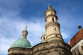 GRAZ, AUSTRIA - JANUARY 10, 2015: St. Catherines church and Mausoleum of Ferdinand II, Graz, Austria on January 10, 2015.