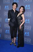 LOS ANGELES - JAN 16:  Takamasa Ishihara & Melody Miyuki Ishikawa arrives to the Critics' Choice Awards 2015  on January 16, 2015 in Hollywood, CA