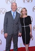 LOS ANGELES - JAN 24:  J.K. Simmons & Michelle Schumacher arrives to the 26th Annual Producers Guild Awards  on January 24, 2015 in Century City, CA