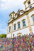 stock photo of carnival brazil  - The famous Bonfim church in Bahia - JPG