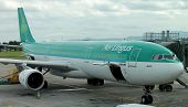 DUBLIN - AUG. 21: Aer Lingus Airbus A330-300 plane parked at Dublin airport