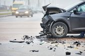 pic of dangerous  - car crash accident on street - JPG