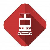 train flat icon public transport sign