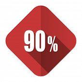 90 percent flat icon sale sign