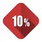 10 percent flat icon sale sign