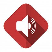 volume flat icon music sign