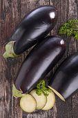 raw eggplant on board