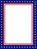 picture of patriot  - Blue and red patriotic stars and stripes page border  - JPG