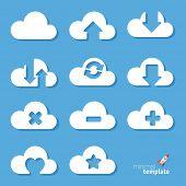 Clouds. Vector icon set.