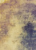 Abstract grunge background with retro design elements and different color patterns: yellow (beige); brown; gray; purple (violet)