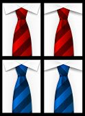 Tie red blue background