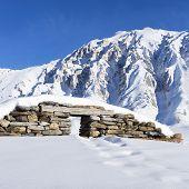 Ruins Under Snow