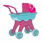 vector illustration baby-car