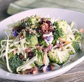 pic of sunflower-seeds  - Salad With Broccoli - JPG
