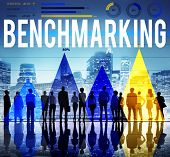 picture of benchmarking  - Benchmarking Quality Control Solution Measurement Concept - JPG