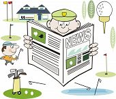 Golf newspaper cartoon