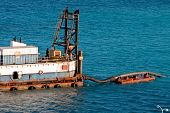Dredging Operation In Deep Blue Sea