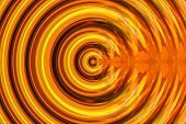 picture of psychedelic  - burst seamless psychedelic circle background in orange and brown - JPG