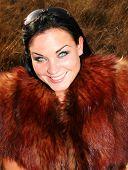 Woman Wearing Fur poster
