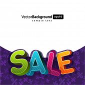 3d sale message vector background. Eps 10