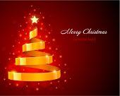 Kerstboom van lint vector achtergrond
