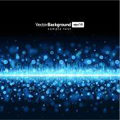 Abstract bokeh waveform vector background