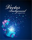 Vector background with open gift