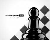 Chess pawn vector background