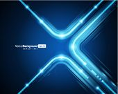 Líneas abstractas tecnología retro en fondo de vector de perspectiva