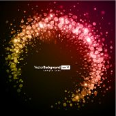 Abstract trendy splat shiny circles with bokeh vector background