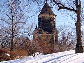 Garfield Monument In Winter