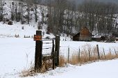 stock photo of infraction law  - old barn and sign no tresspassing taken in eastern oregon - JPG