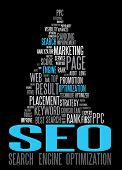 SEO - cartaz de Search Engine Optimization para sua web