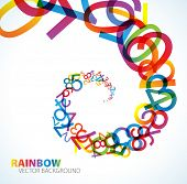 picture of numbers counting  - Abstract background with colorful rainbow numbers - JPG