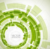 Abstract green technical background with place for your text