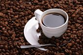 picture of coffee crop  - Cup with coffee - JPG