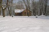 Casa de campo de neve