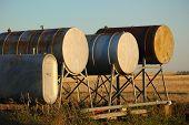 Grain Farm Gas Tanks