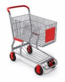 Shopping Cart 3D With Clipping Path