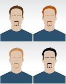 Vector Set Of Simple Male Faces