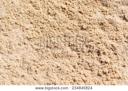 poster of Sand Texture. Brown Sand. Background From Fine Sand. Sand Background