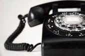 Rotary Dial Black Telephone 1950's