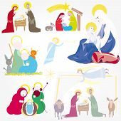 Illustration vector. Star of Bethlehem. Nativity